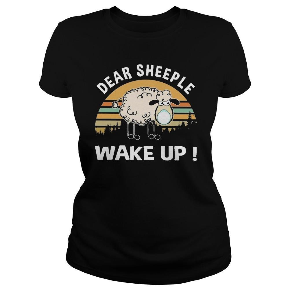 Vintage Dear Sheeple Wake Up Longsleeve