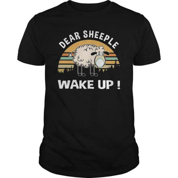 Vintage Dear Sheeple Wake Up Shirt