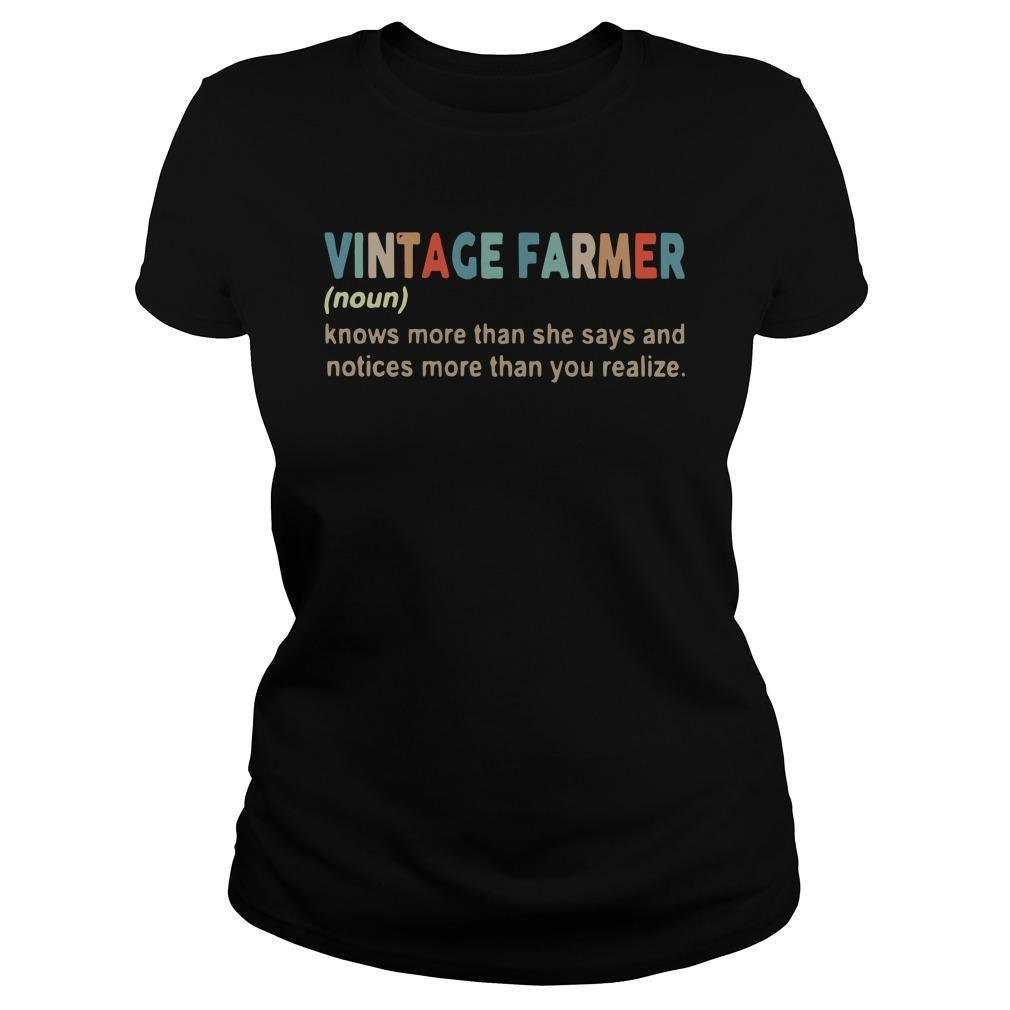 Vintage Farmer Knows More Than She Says And Notices More Than You Realize Tank Top