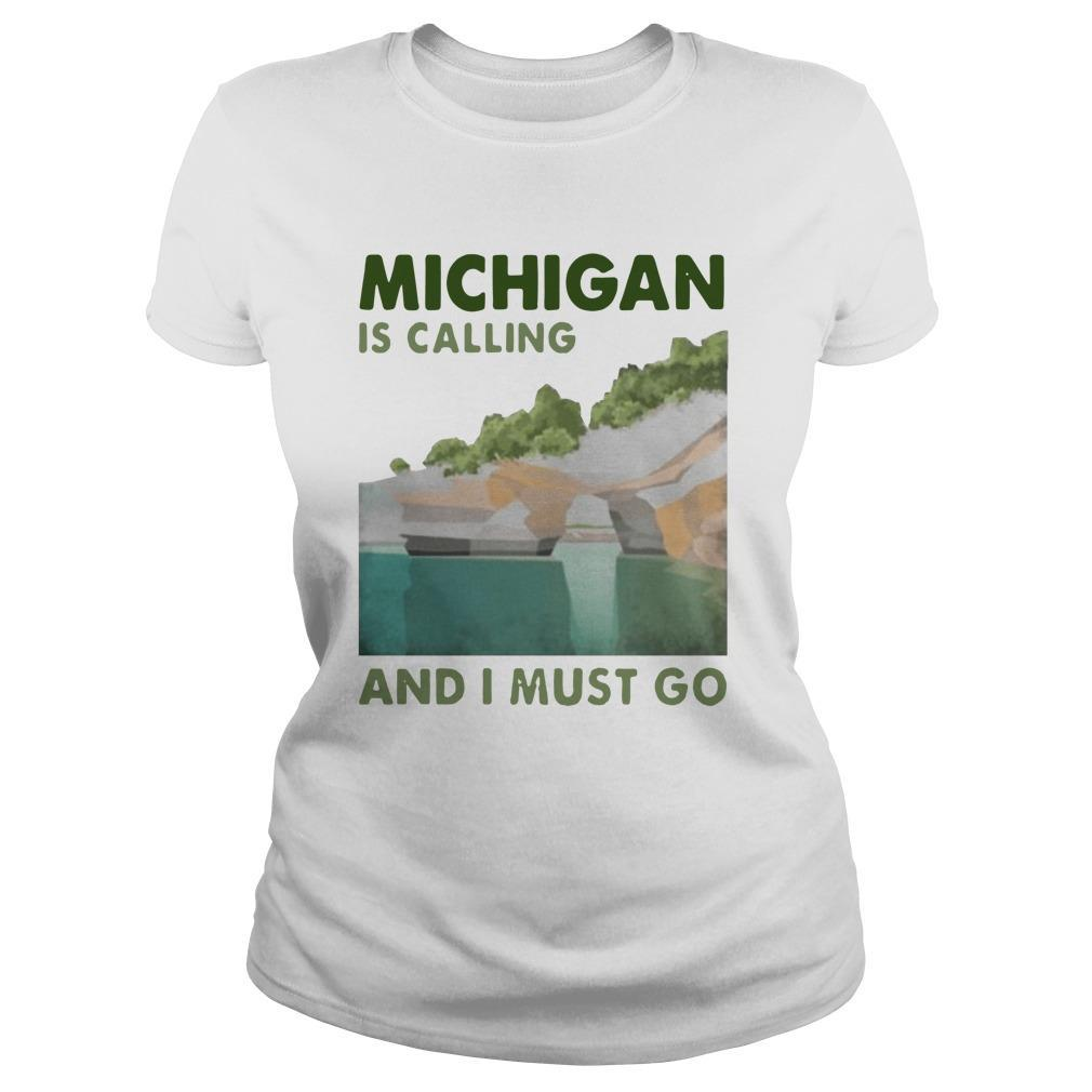 Vintage Michigan Is Calling And I Must Go Longsleeve