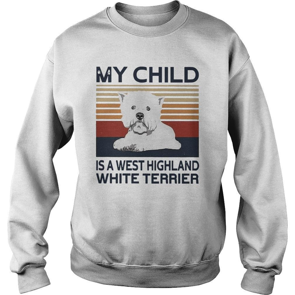 Vintage My Child Is A West Highland White Terrier Sweater