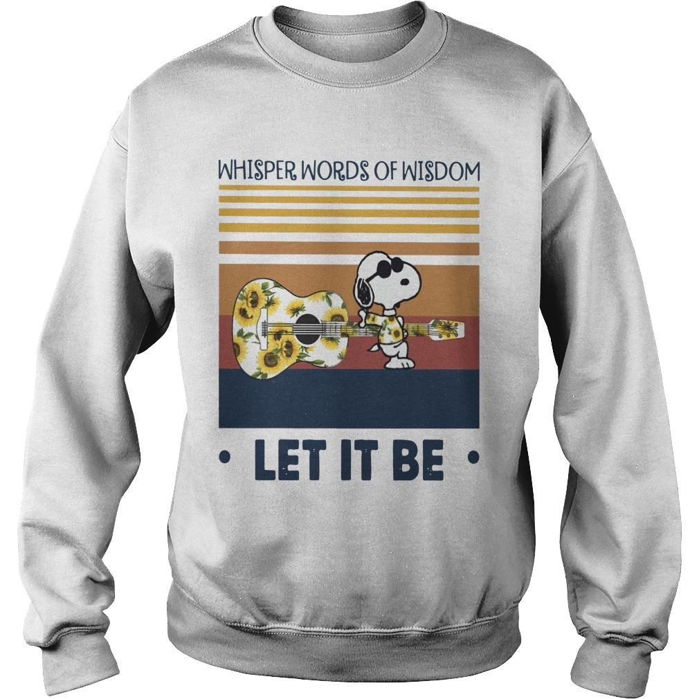 Vintage Snoopy Whisper Words Of Wisdom Let It Be Sweater