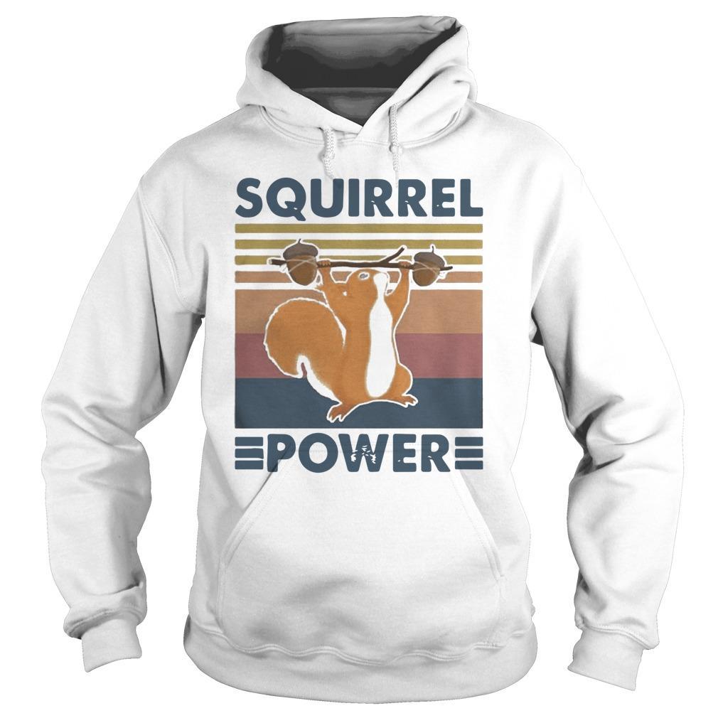 Vintage Squirrel Power Hoodie