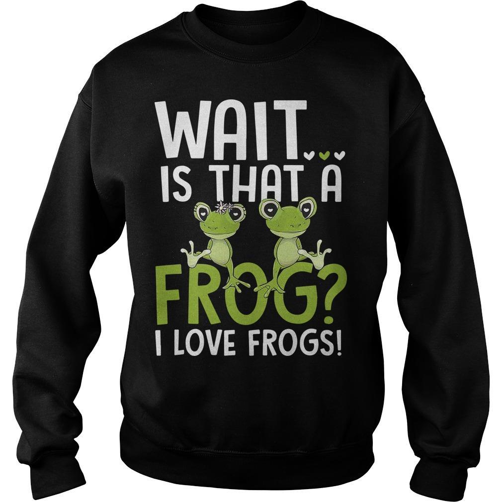 Wait Is That A Frog I Love Frogs Sweater