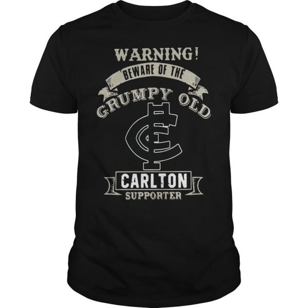 Warning Beware Of The Grumpy Old Carlton Supporter Shirt