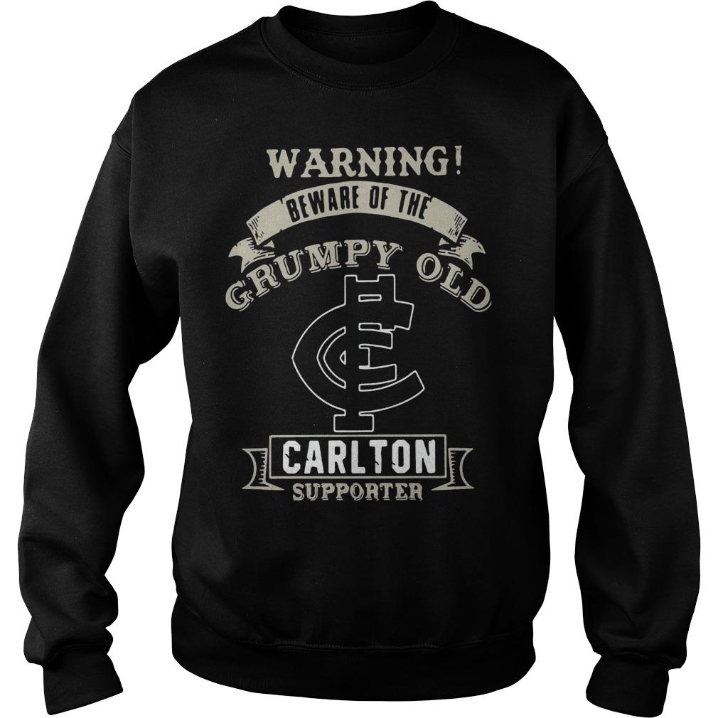 Warning Beware Of The Grumpy Old Carlton Supporter Sweater