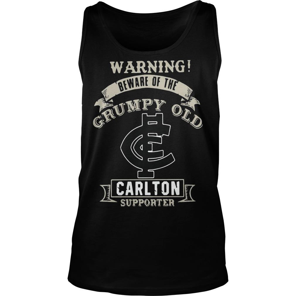 Warning Beware Of The Grumpy Old Carlton Supporter Tank Top