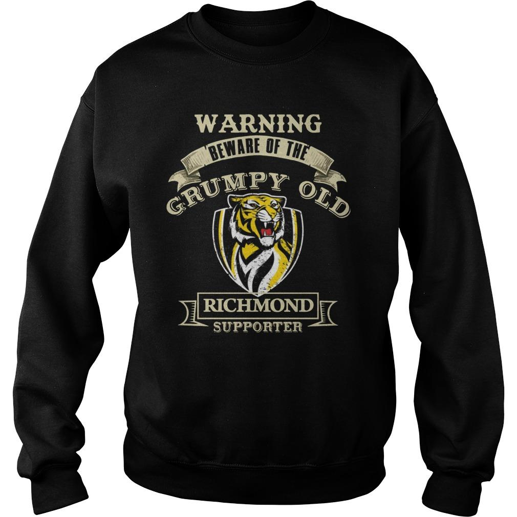 Warning Beware Of The Grumpy Old Richmond Supporter Sweater