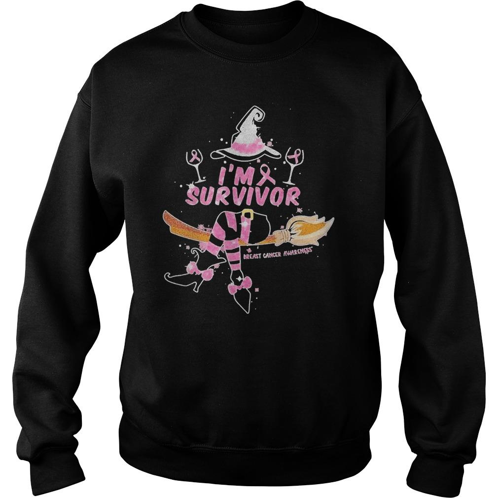 Witch I'm Survivor Breast Cancer Awareness Sweater
