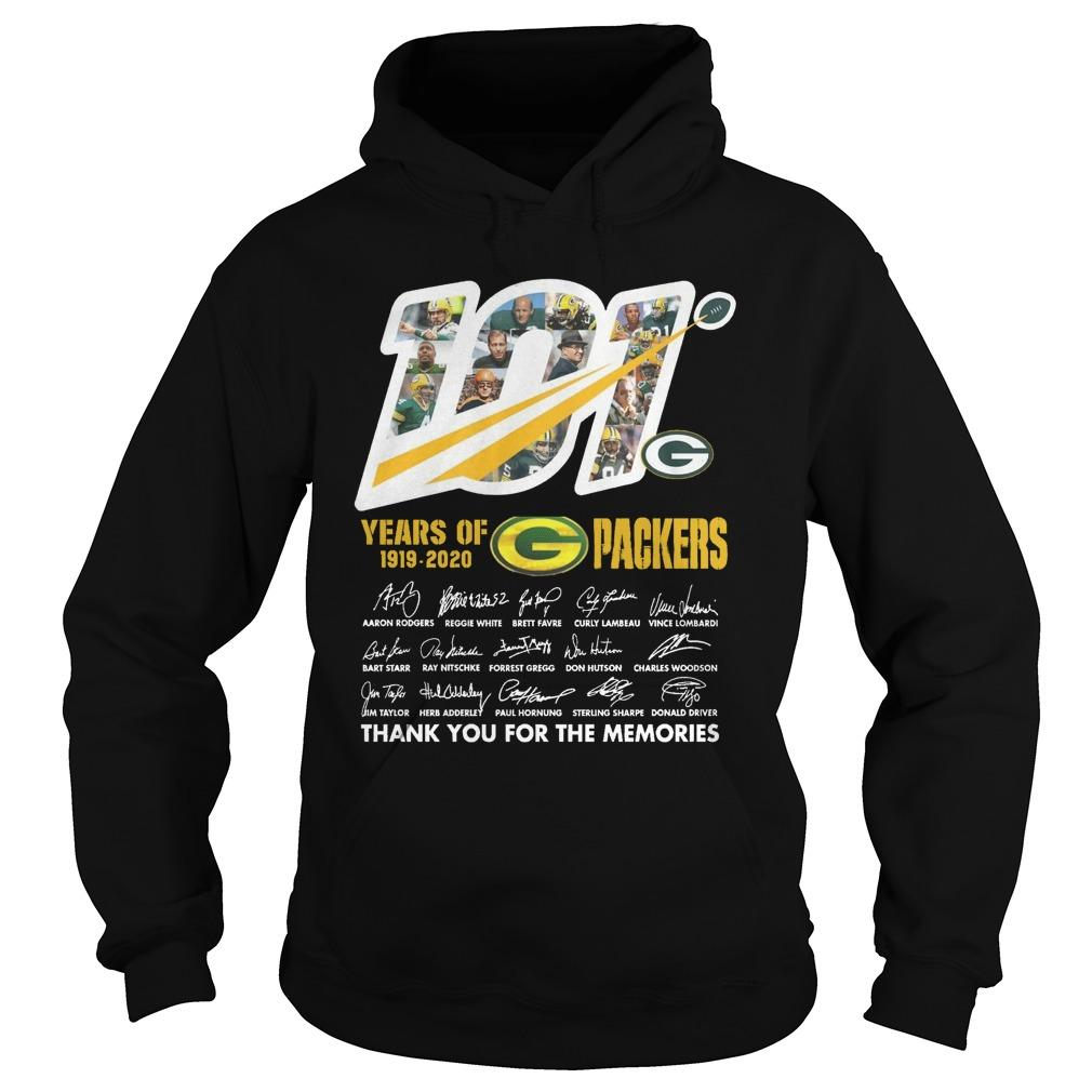 101 Years Of G Packers Thank You For The Memories Hoodie
