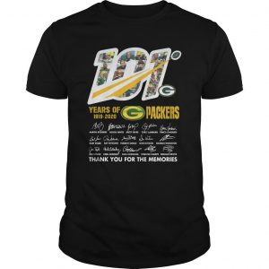 101 Years Of G Packers Thank You For The Memories Shirt