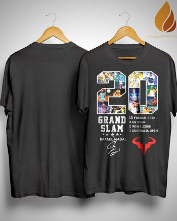 20 Grand Slam Rafael Nadal Signature Shirt
