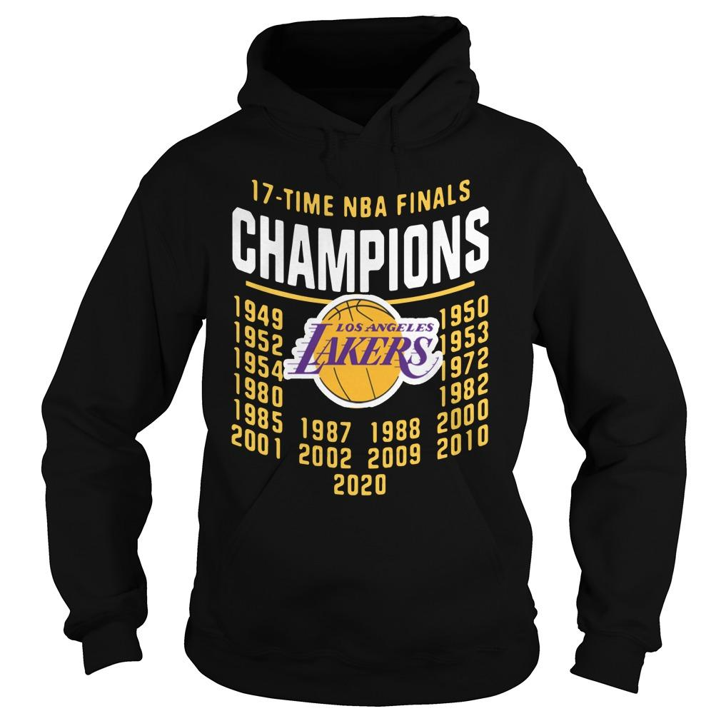 2020 Nba Champions Chibi Lakers 17 Time Champions Hoodie