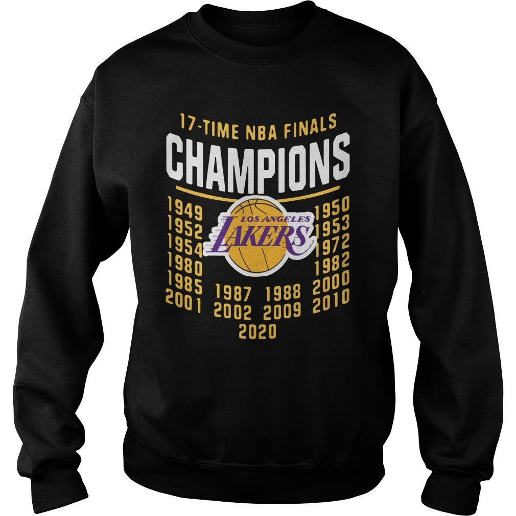 2020 Nba Champions Chibi Lakers 17 Time Champions Sweater