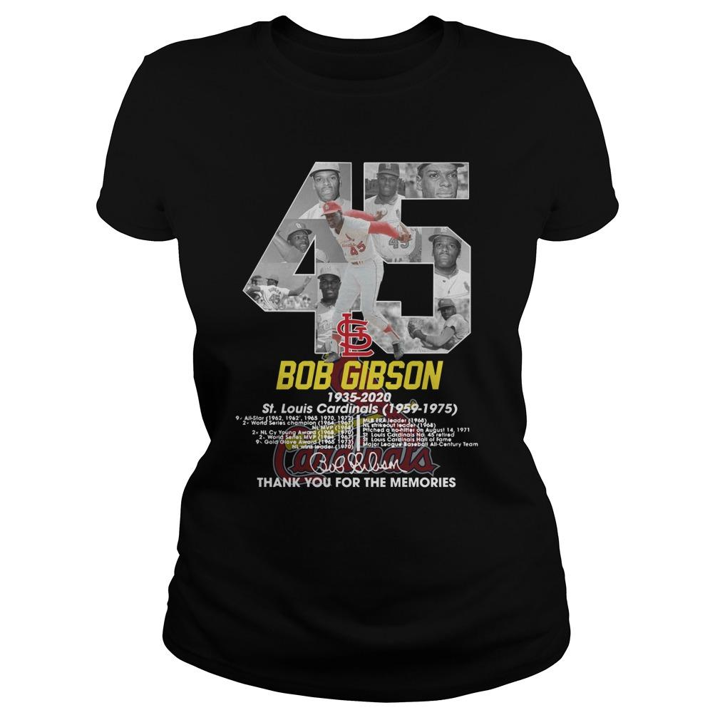 45 Bob Gibson St Louis Cardinals Thank You For The Memories Longsleeve