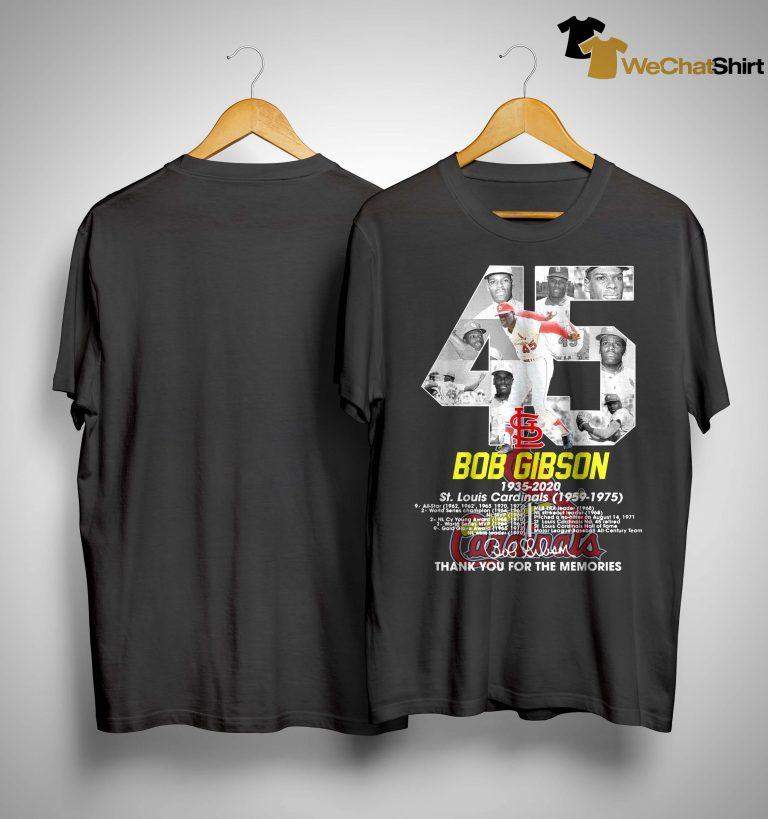 45 Bob Gibson St Louis Cardinals Thank You For The Memories Shirt