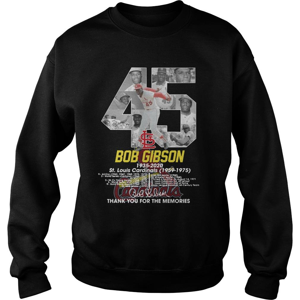 45 Bob Gibson St Louis Cardinals Thank You For The Memories Sweater
