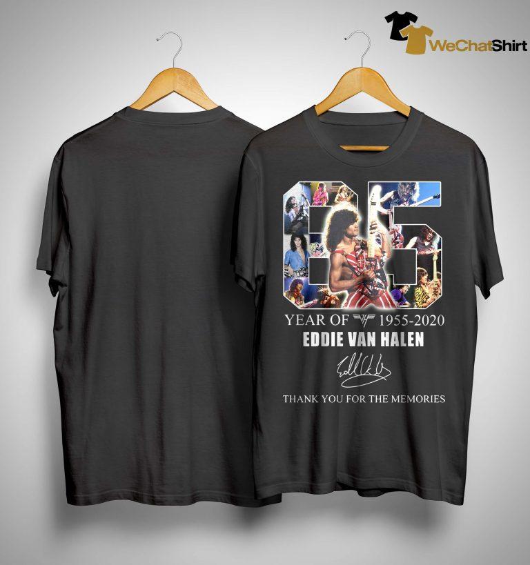 65 Years Of Eddie Van Halen Thank You For The Memories Shirt