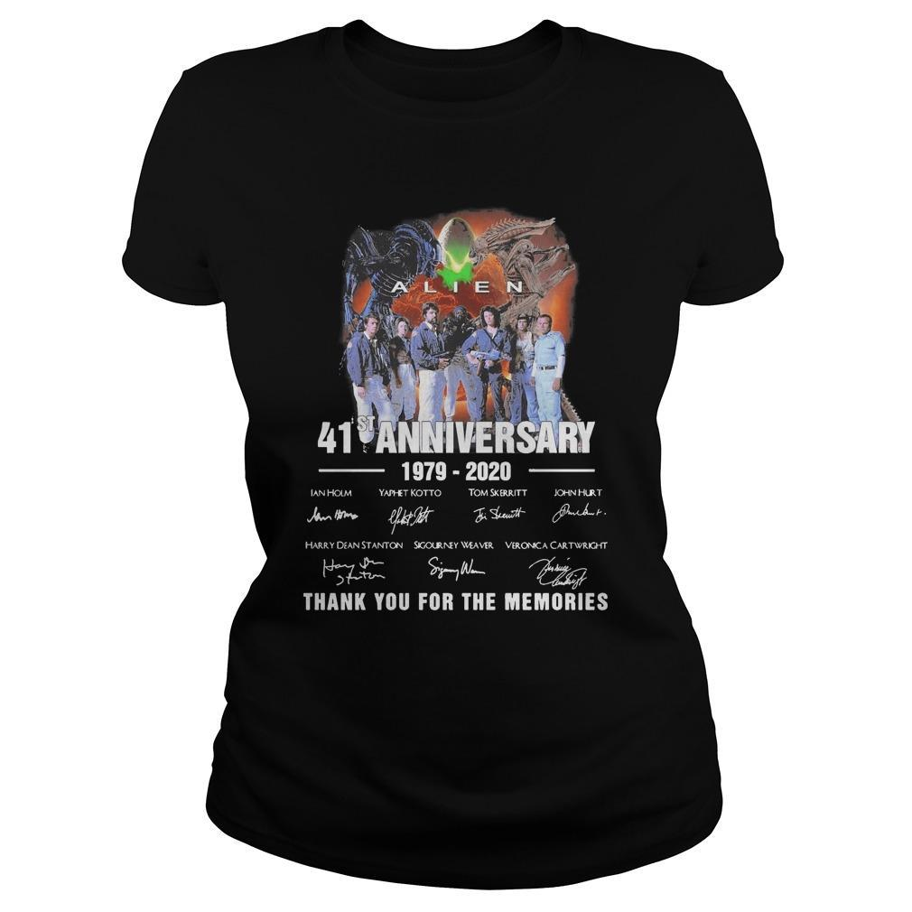 Alien 41st Anniversary 1979 2020 Thank You For The Memories Signatures Longsleeve