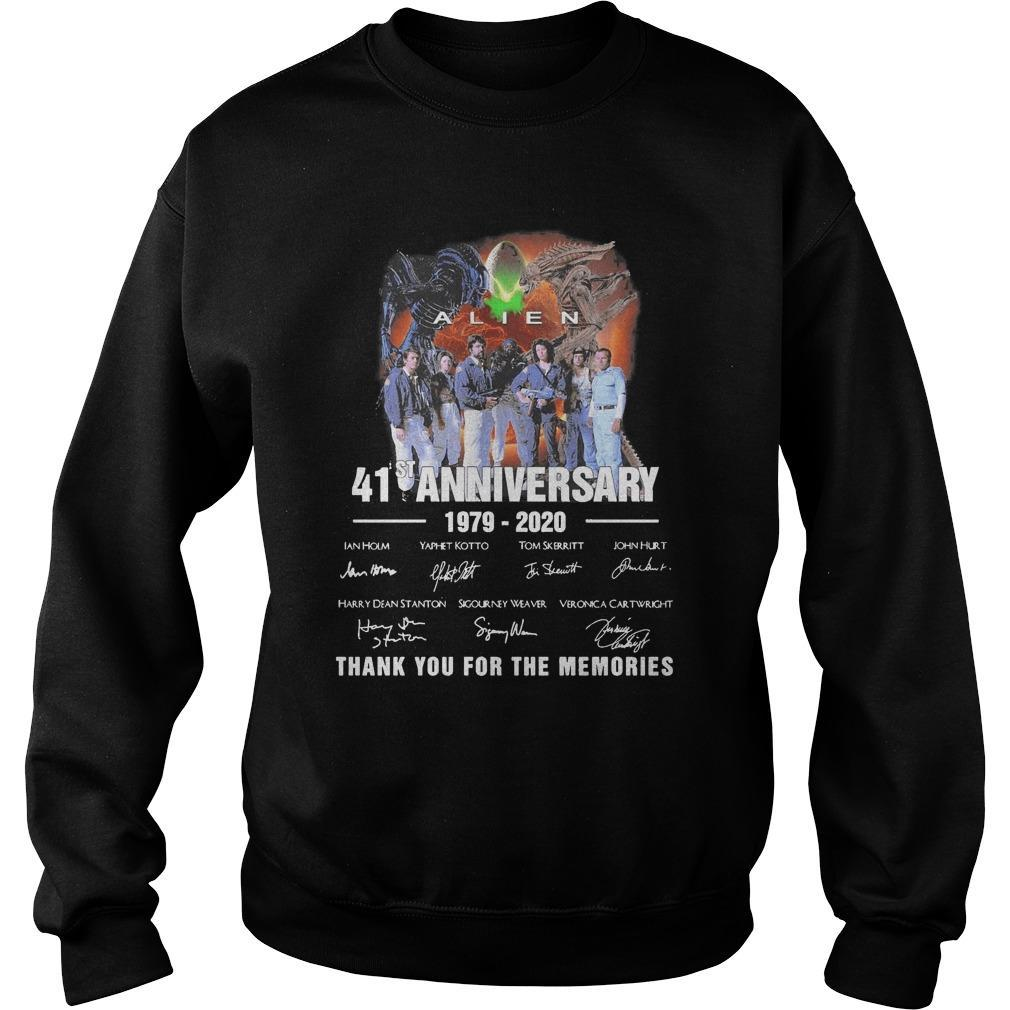 Alien 41st Anniversary 1979 2020 Thank You For The Memories Signatures Sweater