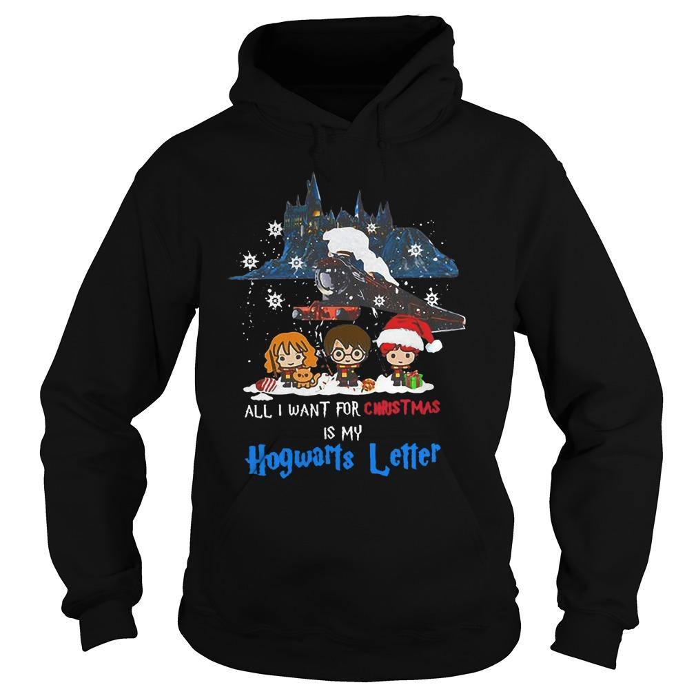 All I Want For Christmas Is My Hogwarts Letter Hoodie
