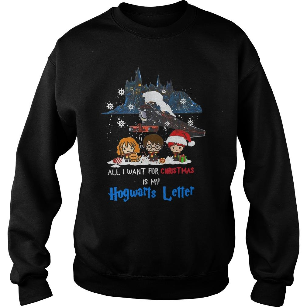 All I Want For Christmas Is My Hogwarts Letter Sweater