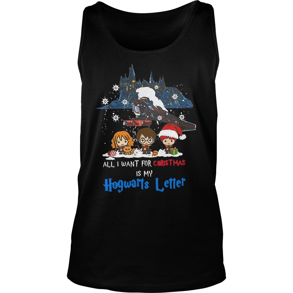 All I Want For Christmas Is My Hogwarts Letter Tank Top