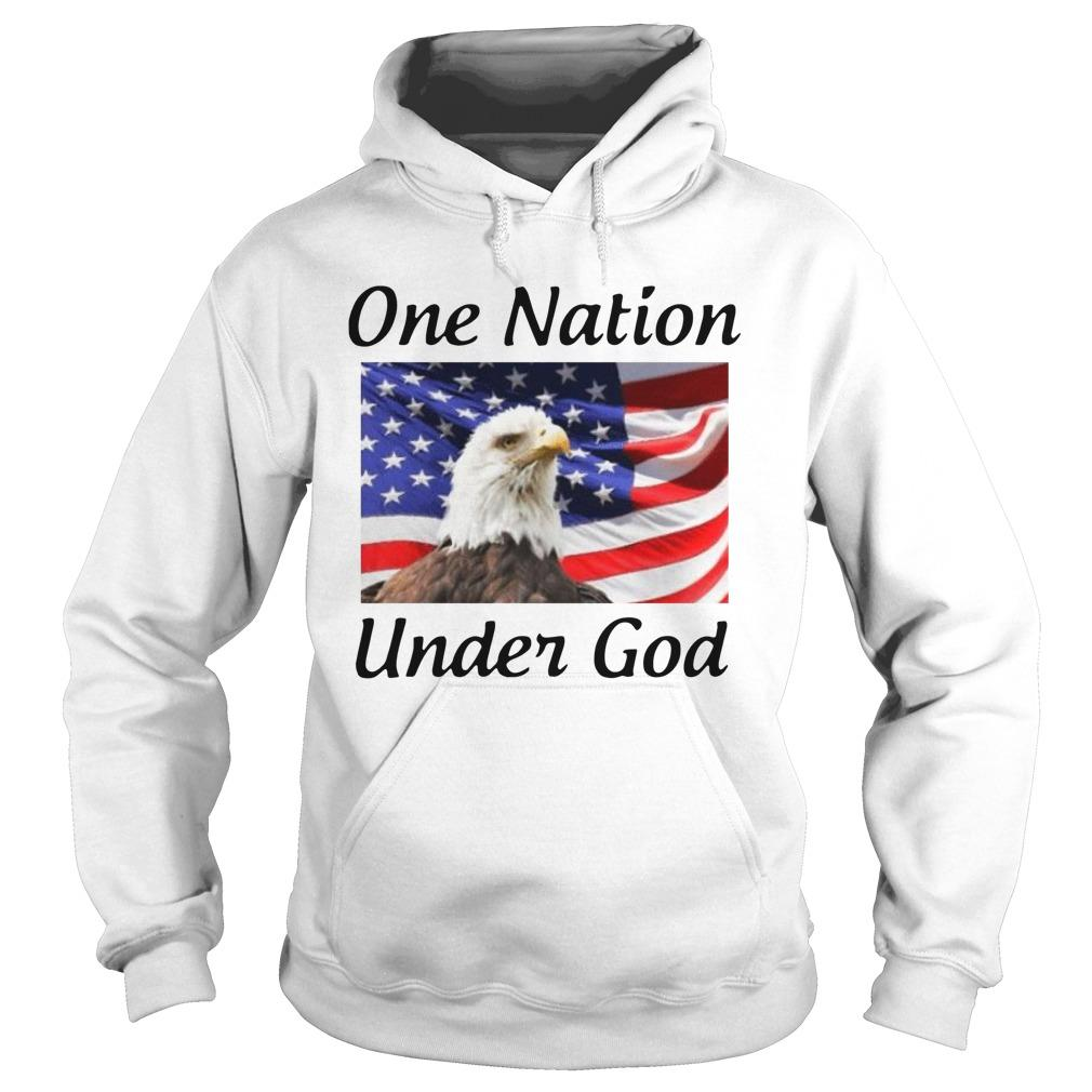 American Flag Eagle One Nation Under God Hoodie