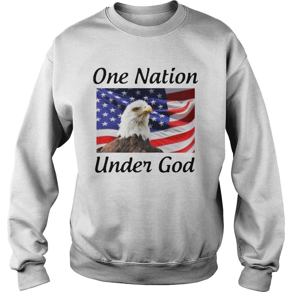 American Flag Eagle One Nation Under God Sweater