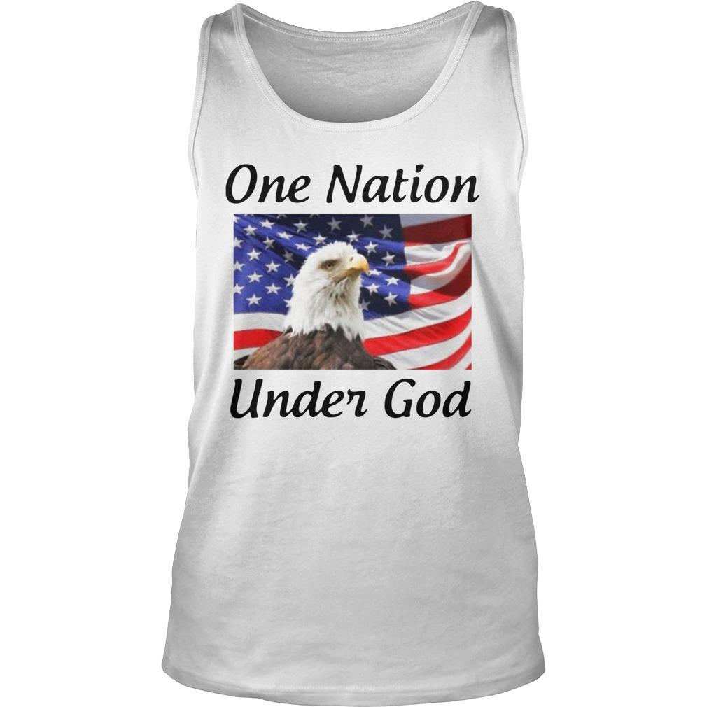 American Flag Eagle One Nation Under God Tank Top