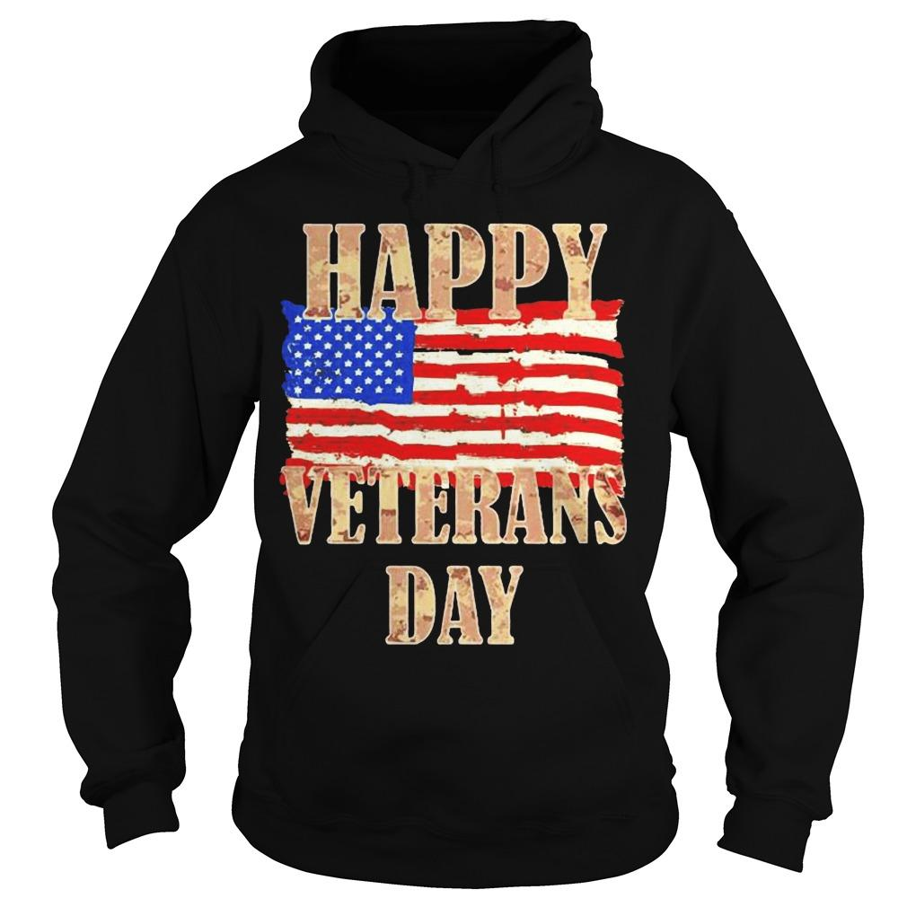 American Flag Happy Veterans Day Hoodie