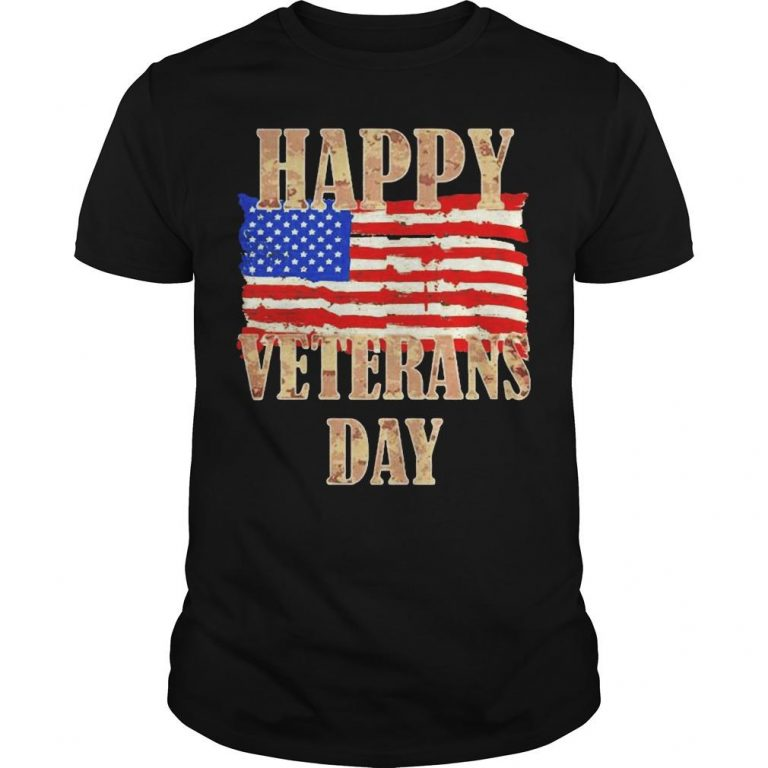 American Flag Happy Veterans Day Shirt
