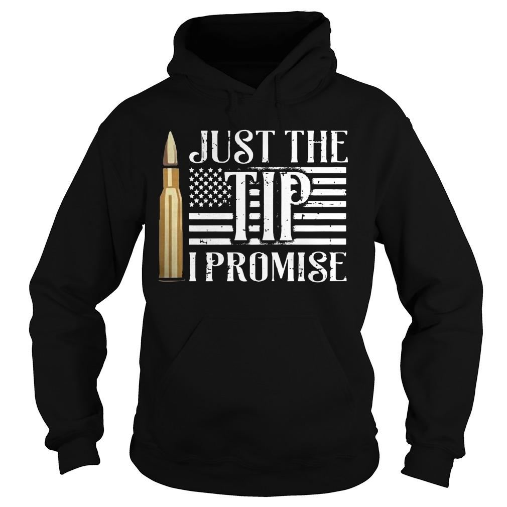 American Flag Just The Tip I Promise Hoodie