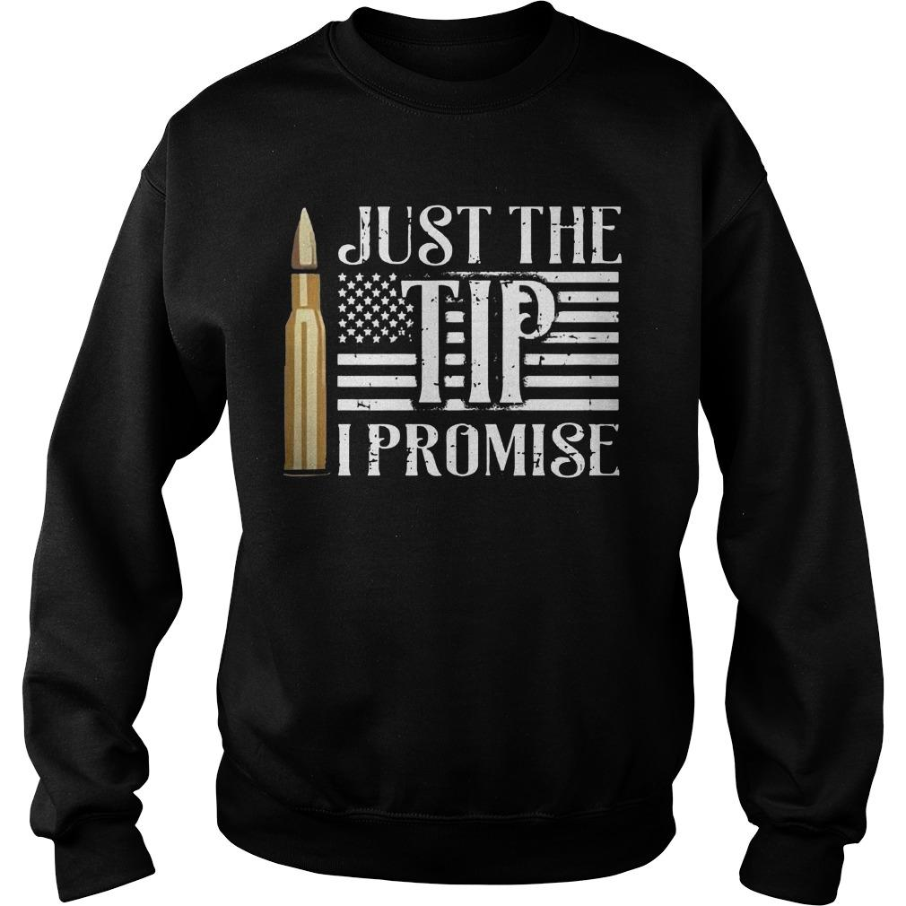 American Flag Just The Tip I Promise Sweater