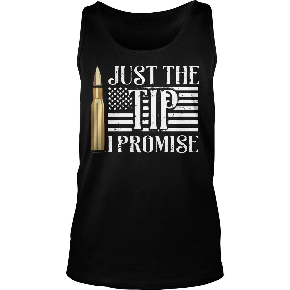 American Flag Just The Tip I Promise Tank Top