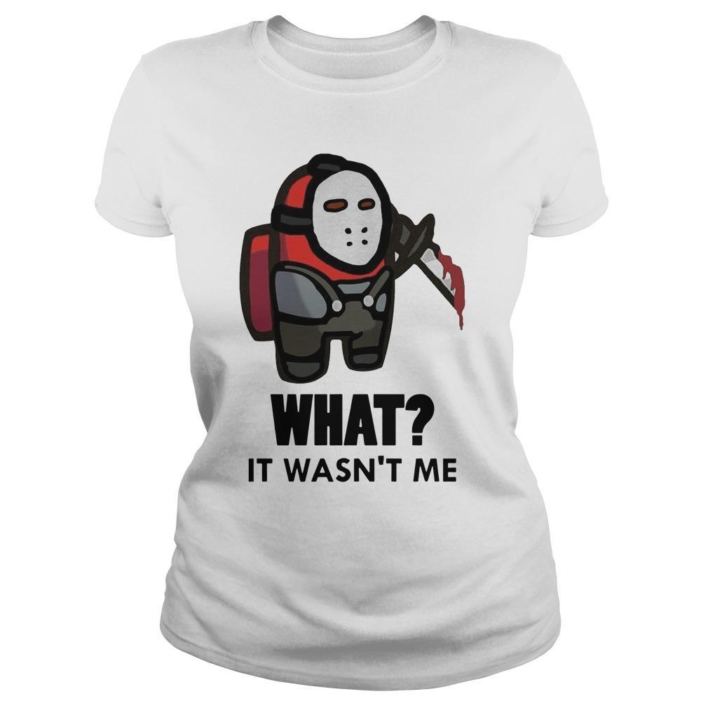 Among Us Jason Voorhees What It Wasn't Me Tank Top