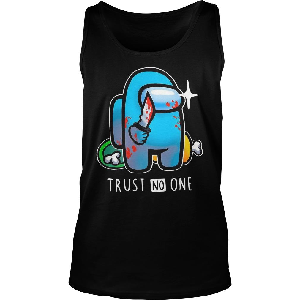 Among Us Trust No One Tank Top