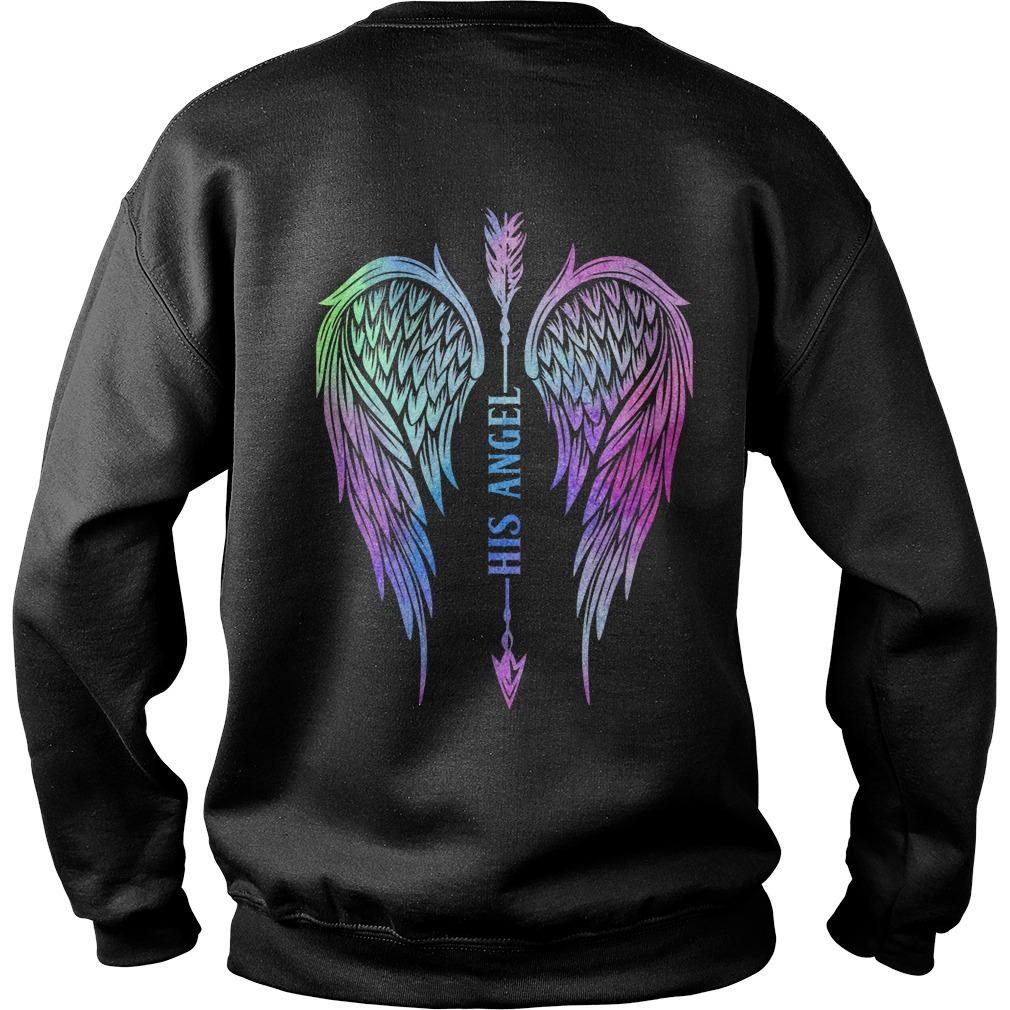 Angel Wing Arrow His Angel Sweater