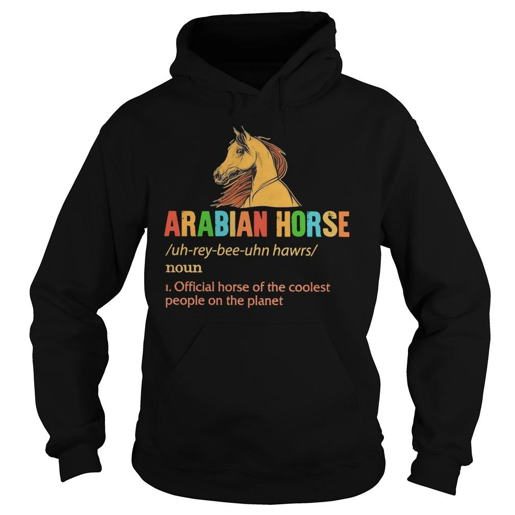 Arabian Horse Official Horse Of The Coolest People On The Planet Hoodie