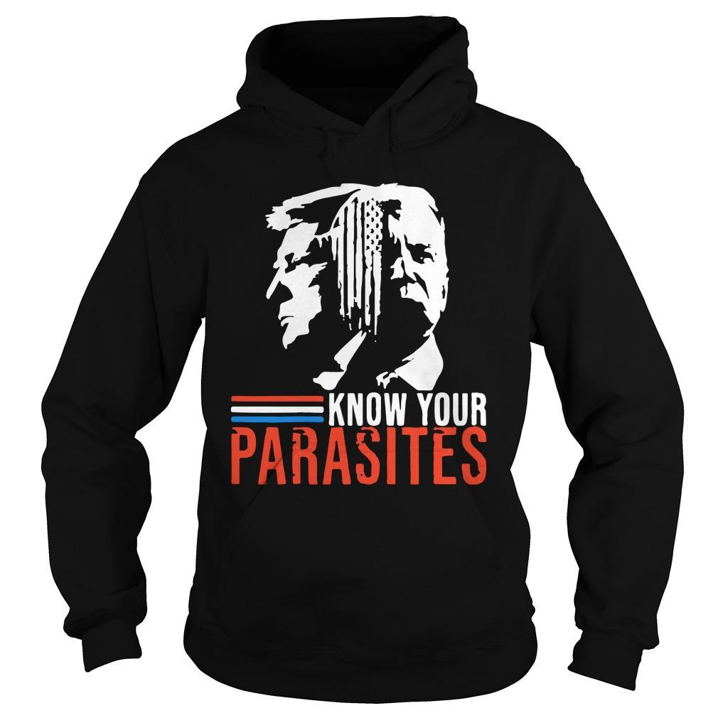 Biden And Trump Know Your Parasites Hoodie