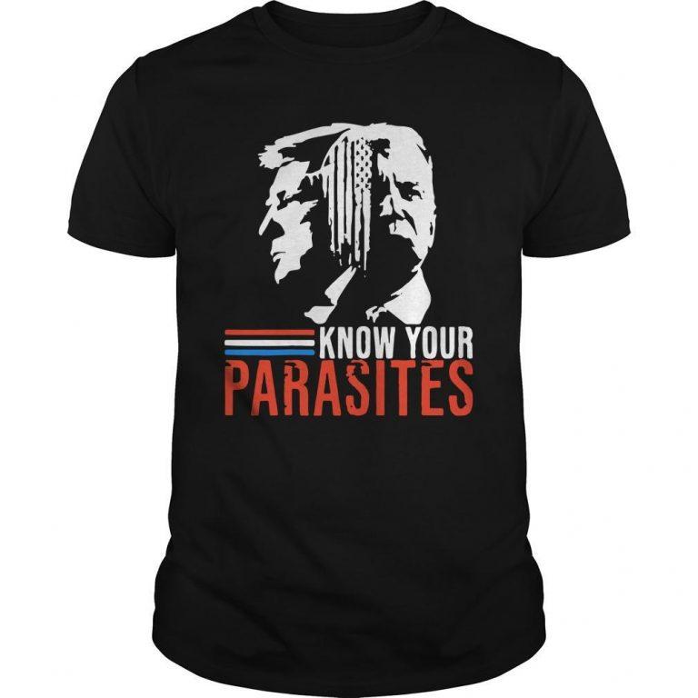Biden And Trump Know Your Parasites Shirt
