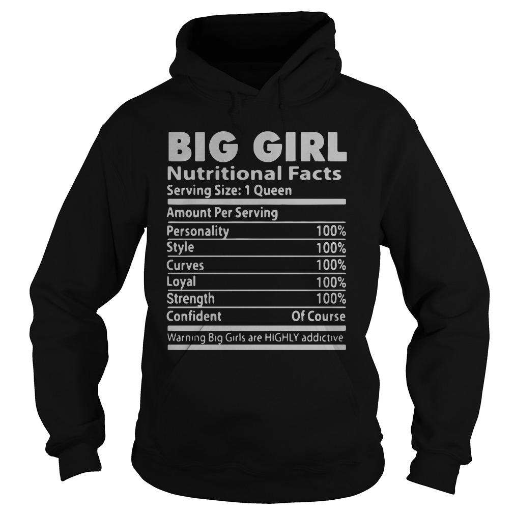 Big Girl Nutritional Facts Serving Size 1 Queen Hoodie