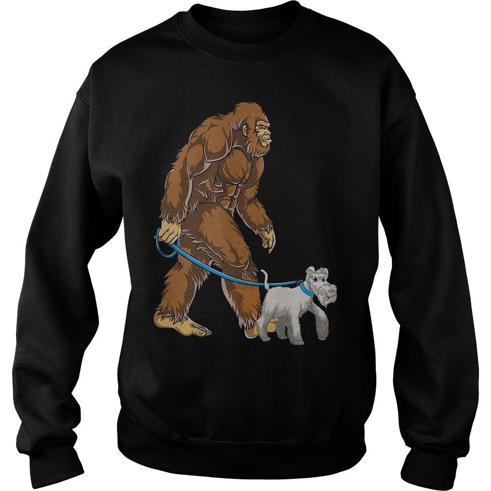 Bigfoot Sasquatch Walking Schnauzer Sweater