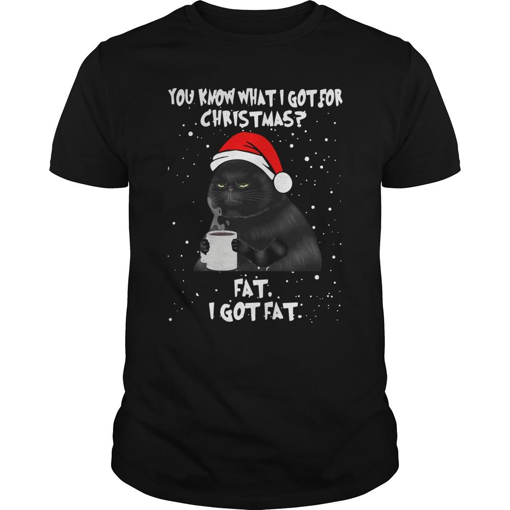 Black Cat You Know What I Got For Christmas Fat I Got Fat Longsleeve