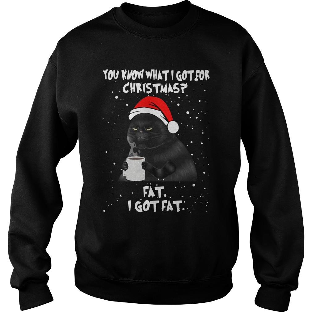 Black Cat You Know What I Got For Christmas Fat I Got Fat Sweater