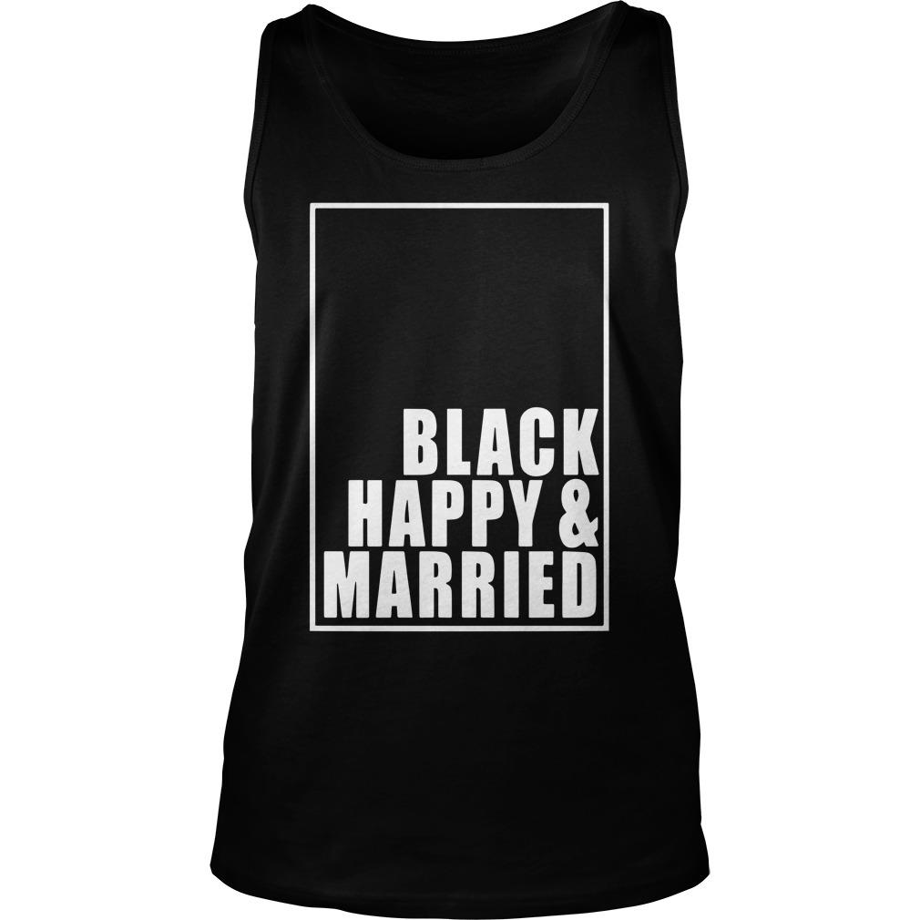 Black Happy And Married T Tank Top