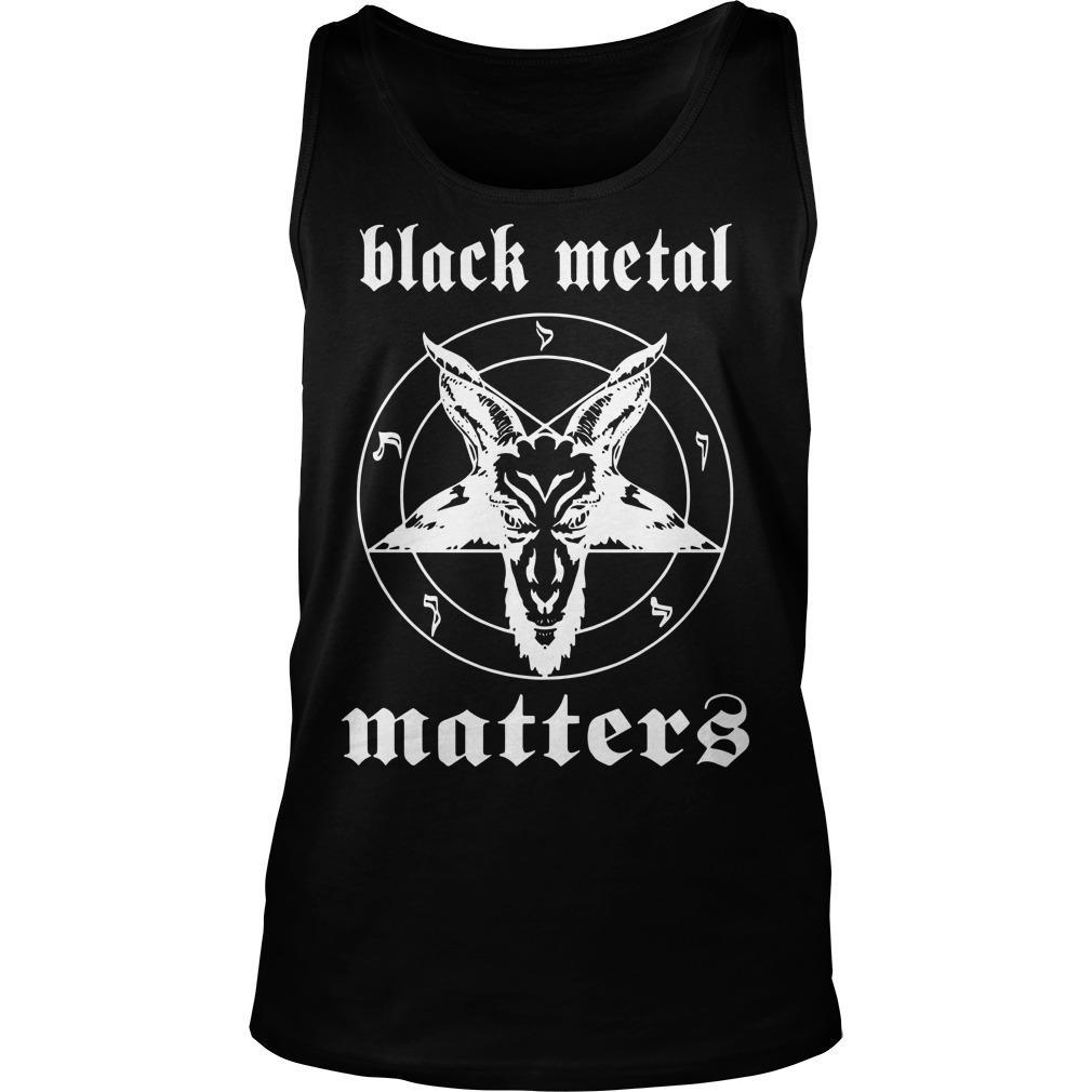 Black Metal Matter Tank Top