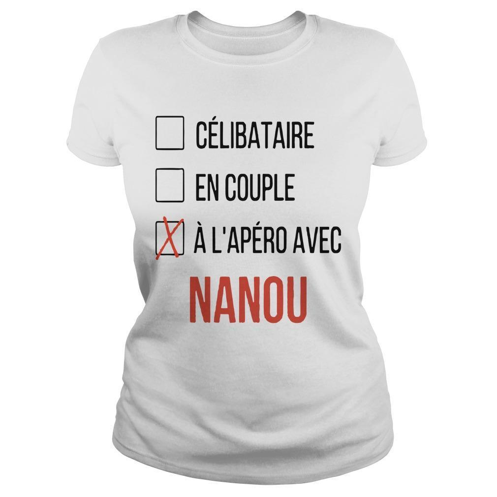 Célibataire En Couple À L'apéro Avec Nanou Longsleeve