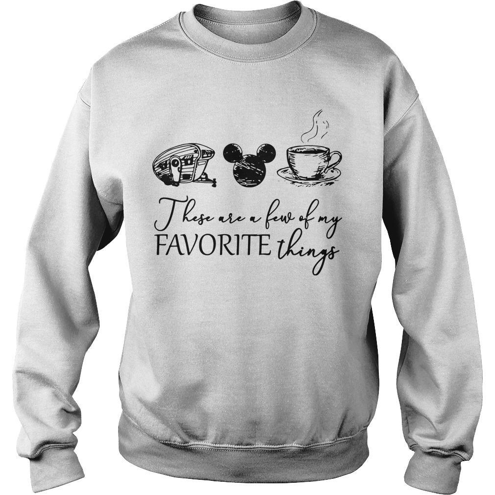 Camping Mickey Mouse Coffee These Are A Few Of My Favorite Things Sweater