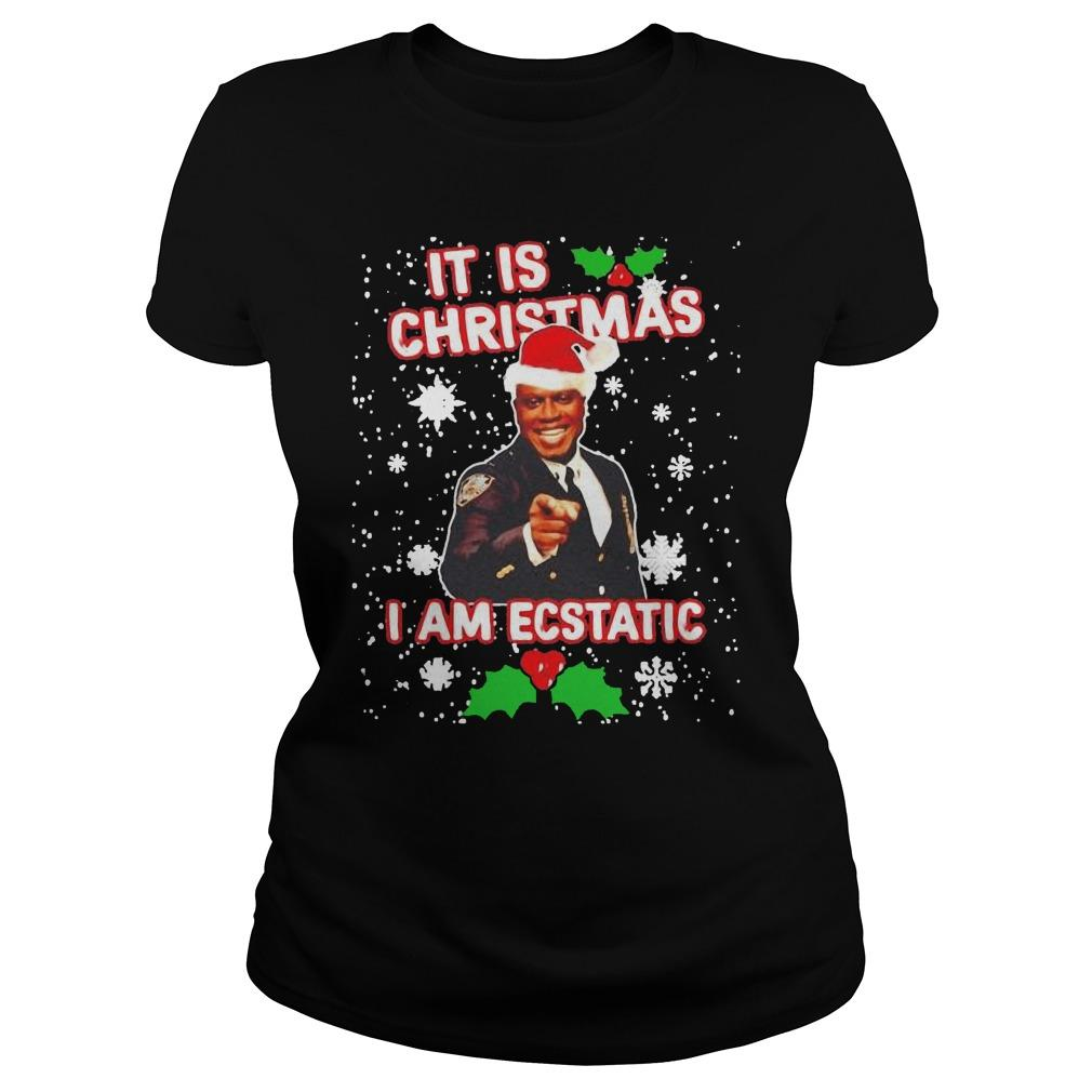 Captain Raymond Holt It Is Christmas I Am Ecstatic Longsleeve